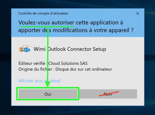 autorisation-installation-wimi-outlook-connector-setup